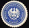 Siegelmarke Königliche Eisenbahn - Direction Erfurt - Kanzlei W0229446.jpg