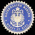 Siegelmarke Kaiserliche Marine - Werft zu Kiel W0223273.jpg