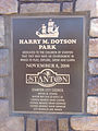 Sign for Harry M. Dotson Park, Stanton, California.jpg