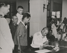 The document of surrender was signed by Japan on 16 September 1945 in Hong  Kong.