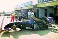 Simtek S941 in the pits at the 1994 British Grand Prix (32162185570).jpg
