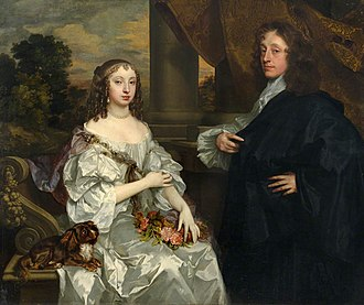 Thomas Fanshawe (1628–1705) - Sir Thomas Fanshawe of Jenkins and his first wife Margaret, double portrait from 1659 by Peter Lely