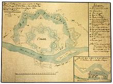 Sistema d'inondazione della Cittadella. 1856