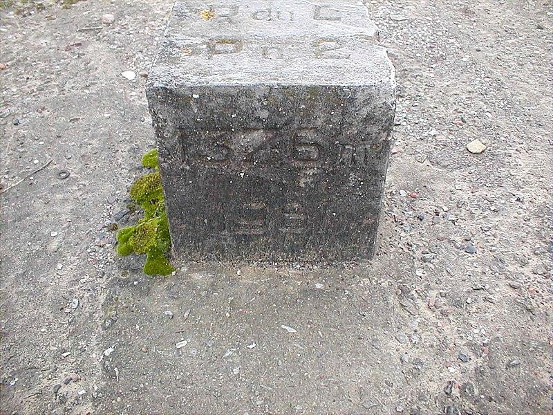 Site Nord du Rieu du Coeur , borne sur l'emplacement du puit