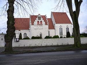 Skanör - The romanesque church in Skanör