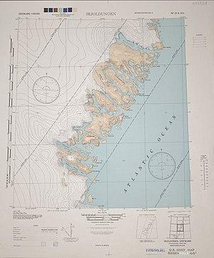 Skjoldungen - 1944 map of the area around Skjoldungen.