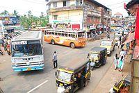 Skyline from municipal bus stand raja road.jpg