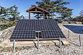 Solar panels and a tourist shelter on the top of Mt Tripylos, Troodos Mountains, Cyprus.jpg