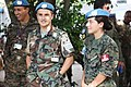 Soldiers from Uruguay and Peru at the farewell for Force Commander Prakash in Kinshasa HQ.jpg