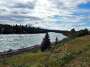 Kenai River - The Kenai River running past Soldotna Creek Park in downtown Soldotna.