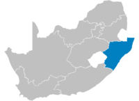 Location of KwaZulu-Natal.