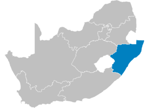 Sharks (Currie Cup) - Image: South Africa Provinces showing KZ