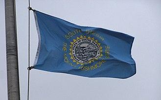 Flag of South Dakota - Photo of the flag