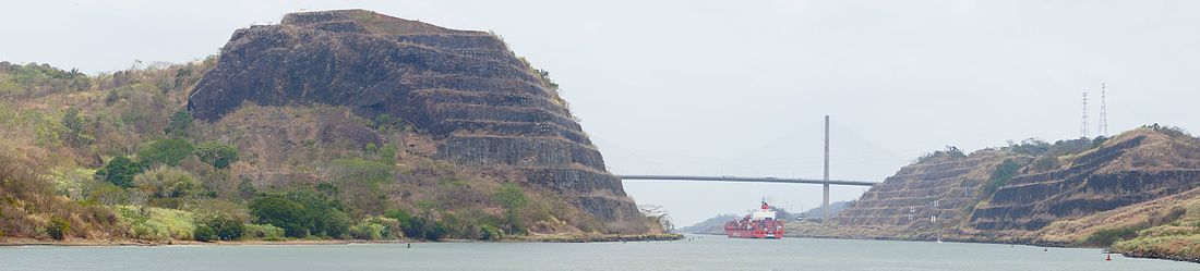 The Panama Canal is one of the main attractions to the Panama City area. The Centennial Bridge spans the area near Gold Hill on the left and Contractor Hill on the right. This is the site of the highest elevation of the Panama Canal construction.