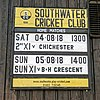 Southwater CC match event sign at Southwater, West Sussex, England.jpg