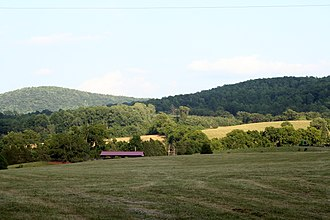 Southwest Mountains - The Southwest Mountains, northern Albemarle County
