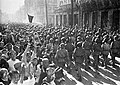 Soviet troops enter the liberated Harbin. August 21, 1945.jpg