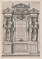 Speculum Romanae Magnificentiae- Title Page engraved within architectonic and sculptural border MET DP870275.jpg