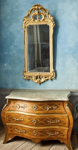 byrå spegel hall ~ filespegel och byrå från 1700talet  skoklosters slott