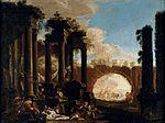Spera, Clemente and Magnasco, Alessandro - Mythological Figures among Ruins - 1690s.jpg