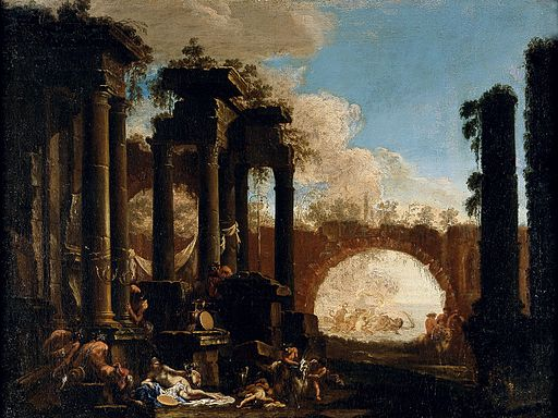 Spera, Clemente and Magnasco, Alessandro - Mythological Figures among Ruins - 1690s