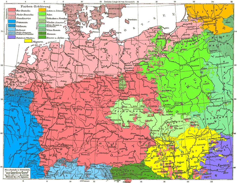 Sprachenkarte Deutschland1880