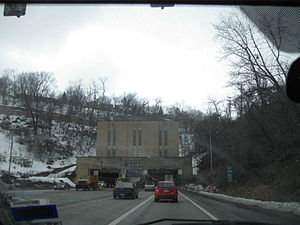 Squirrel Hill Tunnel - East Portal of Squirrel Hill Tunnel in the snow