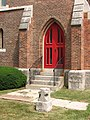 St. Michael's Episcopal Church, Geneseo, New York red door.jpg