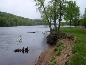 Saint Croix National Scenic Riverway - The St. Croix River from Osceola Landing, near Osceola, Wisconsin.