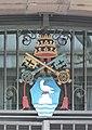 St Eberhard Stuttgart Fassade Papstwappen.jpg