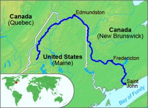 Republic of Madawaska - Image: St John River Map