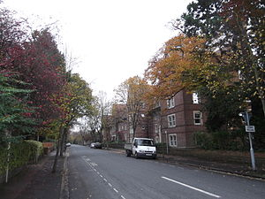 St Margaret's Road - View east from the junction with Woodstock Road.