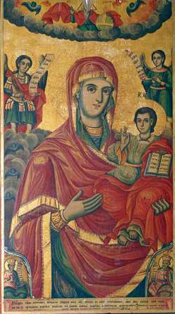 St Nicholas Church Brzdani Mary with Christ Avram Dichov.png