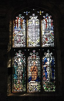 Stained Glass Window in St Laurence's Meriden showing Capt Edward Banks.jpg