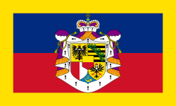 Personal standard of the Prince of Liechtenstein.Proportions: 3:5