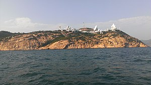 Stanley Peninsula - AsiaSat's Stanley Earth Station, near the southern tip of Stanley Peninsula.