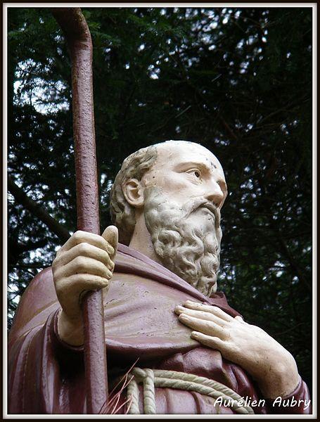 Statue de St-Pérégrin, le pionnier de la vannerie en Sud Haute-Marne.