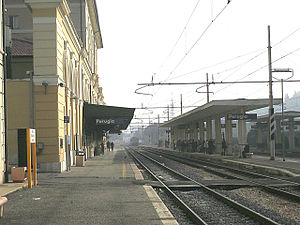 Perugia railway station - View of the main platform.