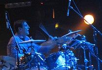 Stephen Morris performing with New Order, 2012.jpg