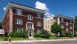 Stevens Square, Minneapolis - Two 1915 apartment buildings typical of Stevens Square
