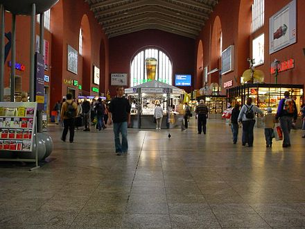 The station from the inside in 2004