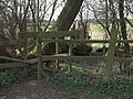 Stile on footpath from Egginton to Marston on Dove - geograph.org.uk - 377161.jpg