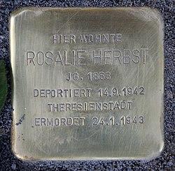 Photo of Rosalie Herbst brass plaque
