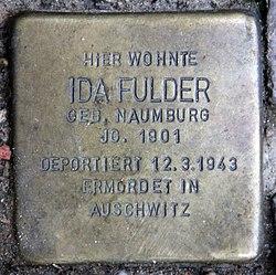 Photo of Ida Fulder brass plaque
