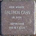 Stolperstein Köln, Salomon Cahn (Hauptstraße 22).jpg