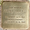 Stolperstein Margaretenstr 2 (Grune) Cäcilie Samuel.jpg