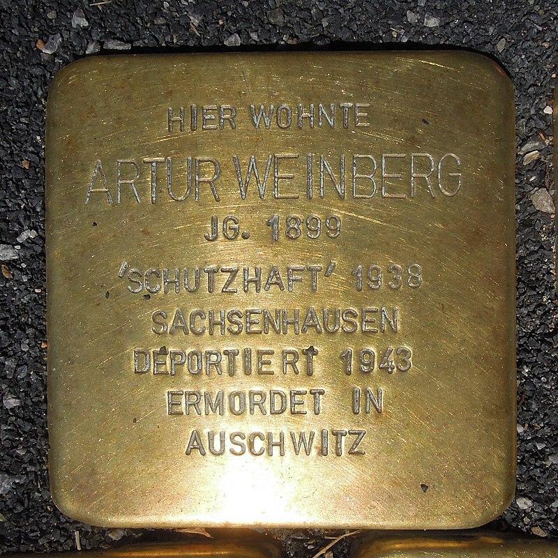 Stolperstein Olsberg Bigge Hauptstraße 33 Artur Weinberg.JPG