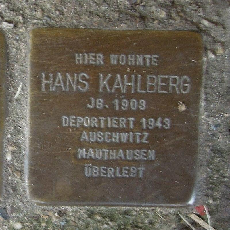 Stolperstein für Hans Kahlberg