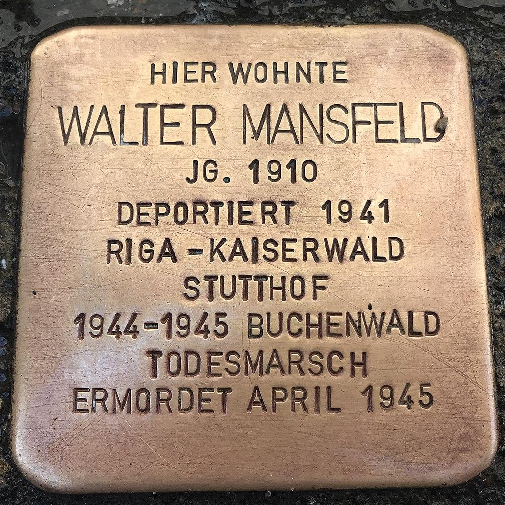 Stolperstein Walter Mansfeld in Lüchow (Wendland).jpg
