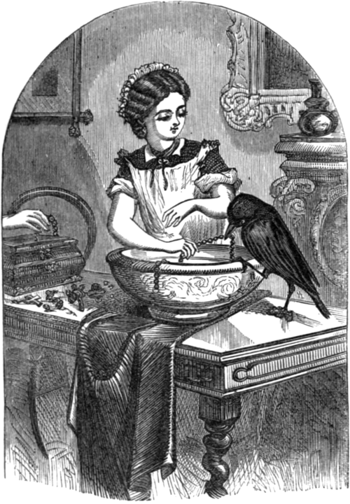 Stories Told to a Child - Frontispiece - The Suspicious Jackdaw.png